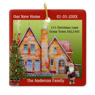 Christmas dream house artistic personalized ornament
