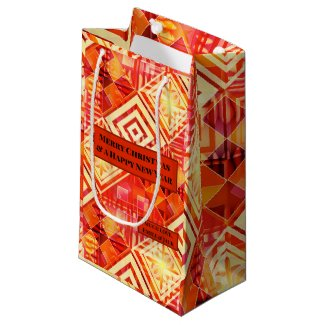 Colorful geometric art pattern personalized gift bag