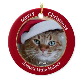 Your photo cute Santa's helper personalized Christmas ornament