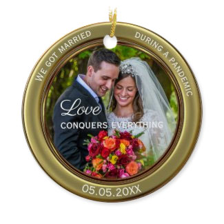 Your photo first Christmas together ornament