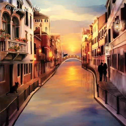 Venice - Italian inspired fine art by Anne Vis
