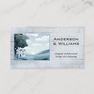 Creative architecture or real estate photo business card