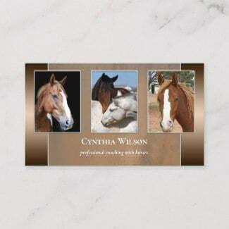 Custom photos horse stables template business card
