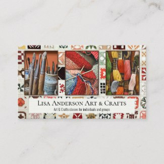 Arts and crafts photo template business card