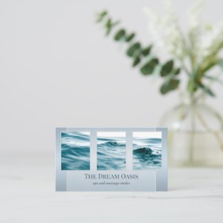 Your photos dream and dusty blue business card