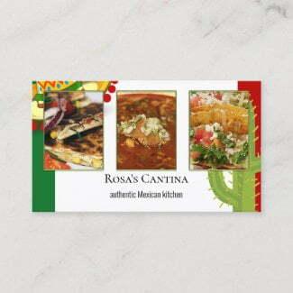 Your photos mexican restaurant business card