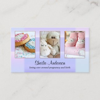 Your 4 photos midwife or doula business card