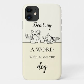 Funny angel cats quote personalized phone case