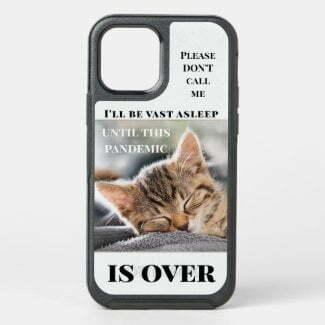 Funny cat quarantine personalized photo phone case