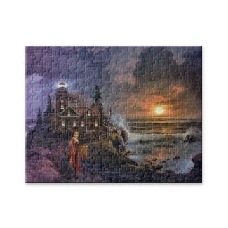 Magical fantasy sunset on the coast puzzle
