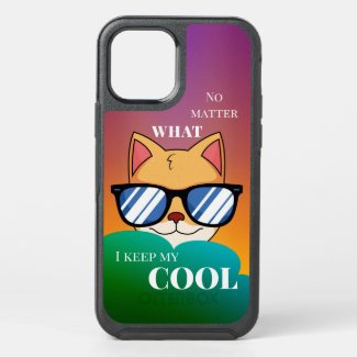 Cool Cartoon Cat Personalized Phone Case
