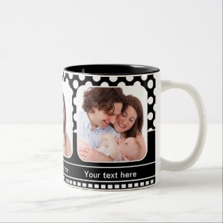 Retro Polka Dots Photo Mugs