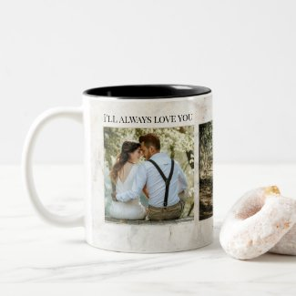 Marble wedding photo template personalized mug
