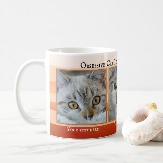 Obsessive cat disorder therapy funny cat photo mug