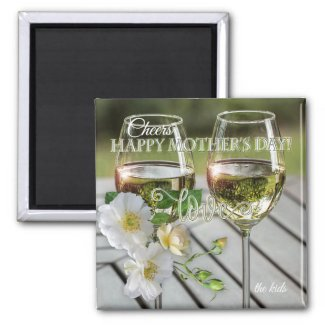 wine themed mother's day gift magnet