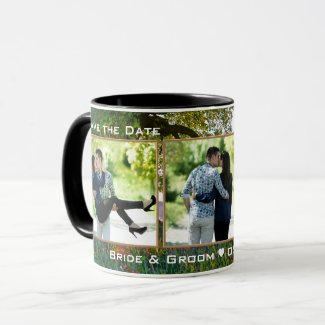 Save the Date tree nature photo mug