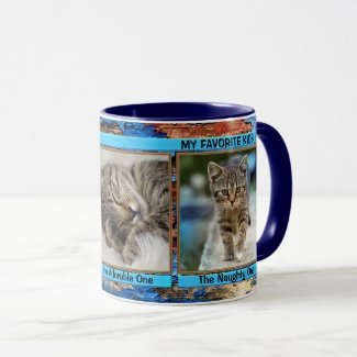 Turquoise blue personalized photo mug