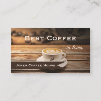 Rustic coffee shop gift certifate template business card