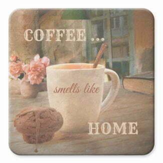 Coffee fine art personalized coaster