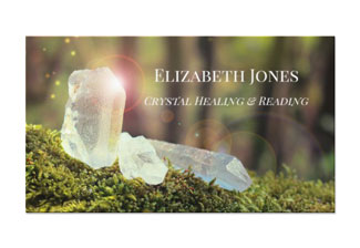 Crystal healing reading business card