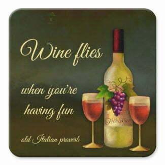 Original Italian art wine coaster - fine art by Anne Vis