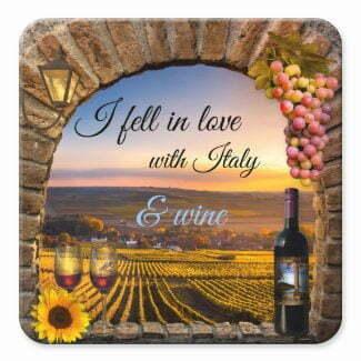 Original Italian art inspired wine coaster by Anne Vis