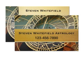 Professional astrologer business card - spiritual business cards by Anne Vis