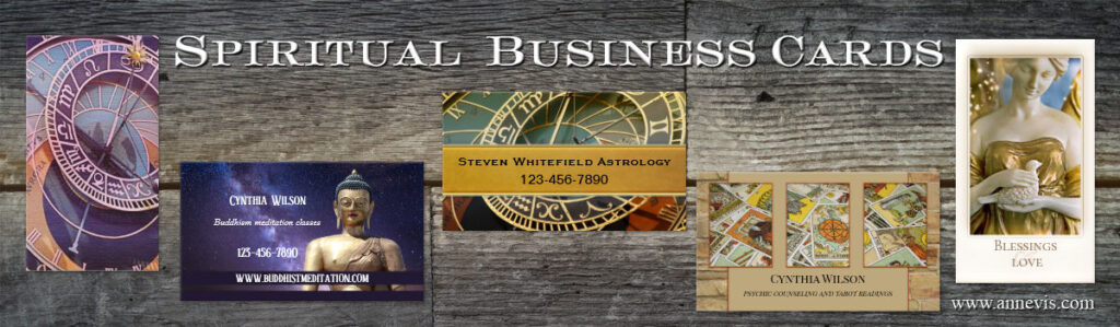 Spiritual business cards by Anne Vis