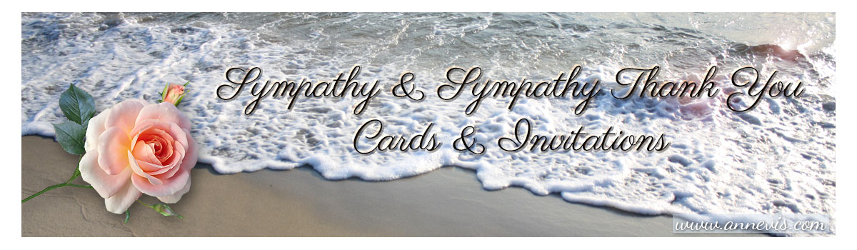 sympathy, sympathy thank you cards and invitations by Anne Vis
