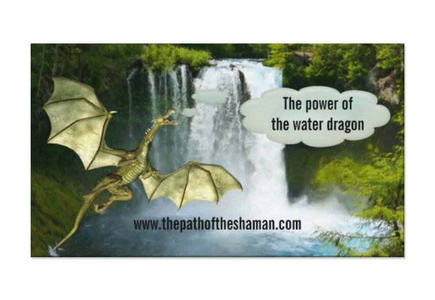 Waterfall Dragon Shaman business card template