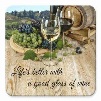 Wood barrel and grapes wine coaster