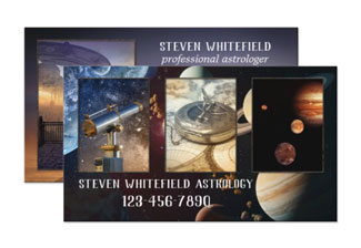 Your photos sci fi space astrology business card template