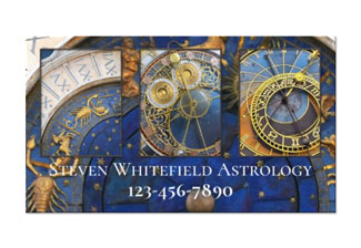 Your photos professional astrology business card