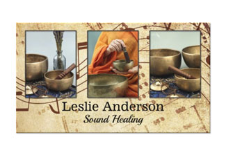 Your photos sound healing or speech therapist business card