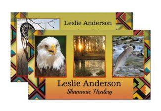 Your photos tribal shamanic business card - spiritual business cards