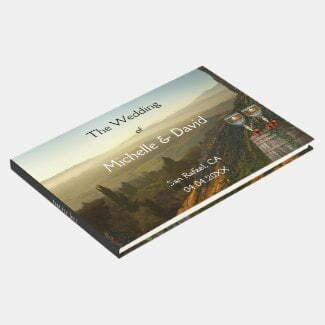 Vineyard Winery wedding landscape guest book
