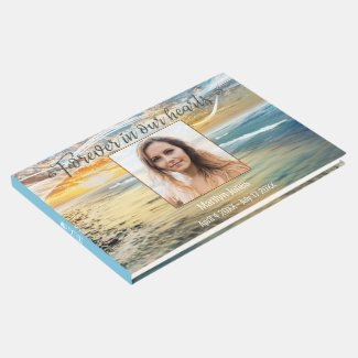 Photo beach cremation ceremony guest book