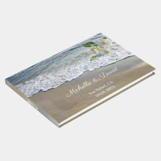 Romantic beach wedding guest book