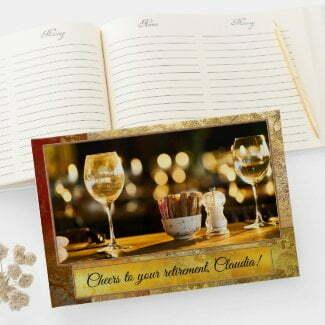 Your photo artistic gold design retirement guest book