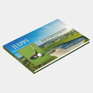 Your photos golf retirement guest book