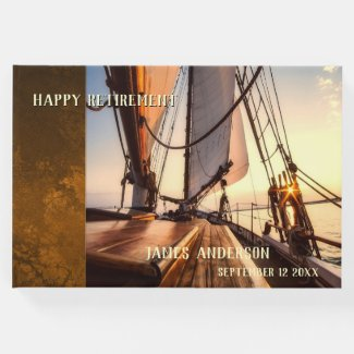 Your photos sailboat retirement guest book