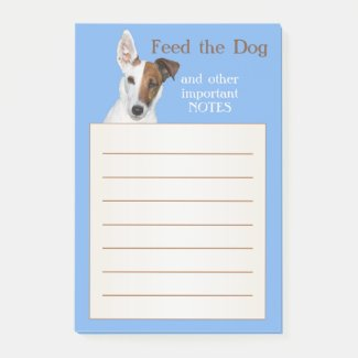 Funny cute dog themed post-it notes