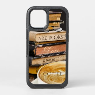 Funny coffee books vintage library phone case