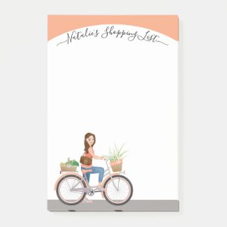 Simple elegant grocery shopping post-it notes