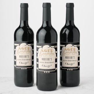 Aged to Perfection Personalized Birthday Wine Label