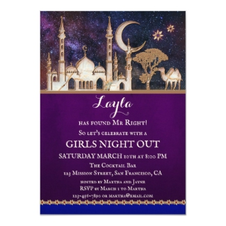 Arabian Nights Fairy Tale Bachelorette Invitation