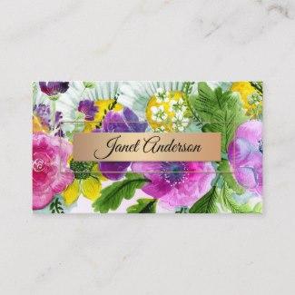 Artistic Floral Design Business Card
