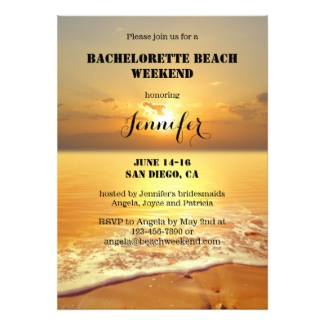 Bachelorette Beach Weekend Itinerary Template Invitation