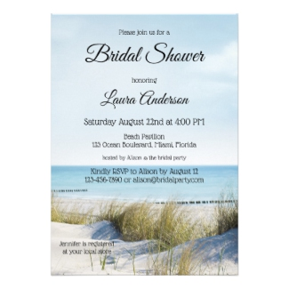 Beach and Dunes Bridal Shower Invitation