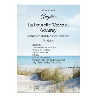 Beach and Dunes Bachelorette Weekend Template Invitation
